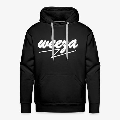 White_on_Black_weeza - Männer Premium Hoodie