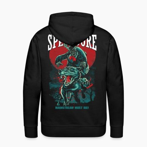 100% Speedcore - Mainstream Must Die! - Men's Premium Hoodie