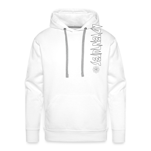 Jebus Adventures Vertical Stripe - Men's Premium Hoodie