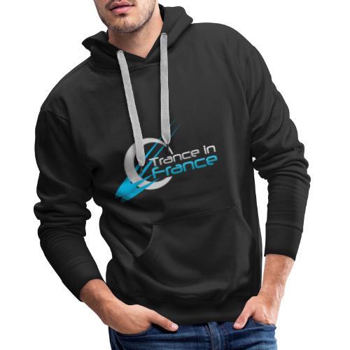 Trance In France Black - Large Logo - Sweat-shirt à capuche Premium pour hommes