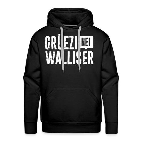 Grüezi – Nei, Walliser - Männer Premium Hoodie