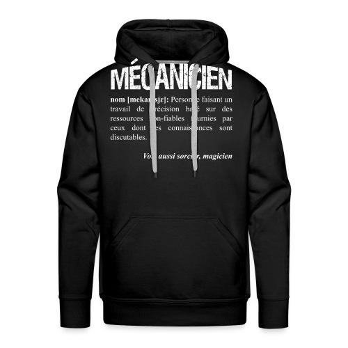 Mécanicien = magicien? - Sweat-shirt à capuche Premium pour hommes