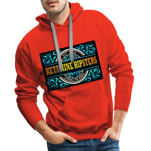 Black Vintage - KETAMINE HIPSTERS Apparel - Men's Premium Hoodie
