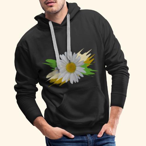 Margeriten Blüte, Blumen, floral, Gänseblümchen - Männer Premium Hoodie