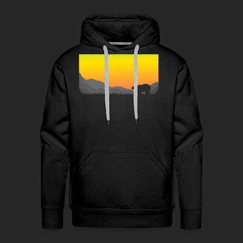 Sunrise Polar Bear - Men's Premium Hoodie