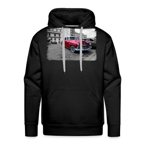macchina rossa lucida - Felpa con cappuccio premium da uomo