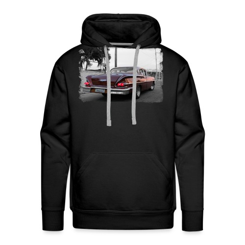 macchina vino rosso - Felpa con cappuccio premium da uomo