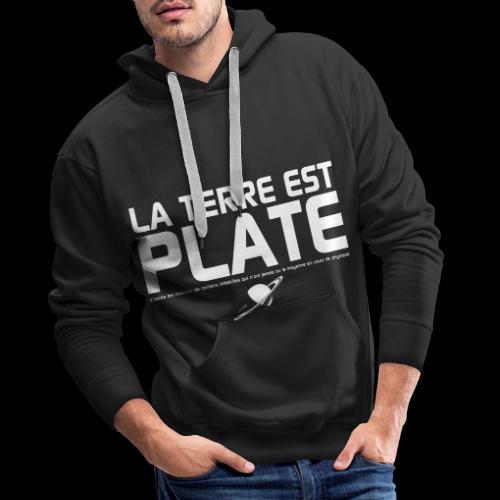 La Terre est Plate - Sweat-shirt à capuche Premium pour hommes