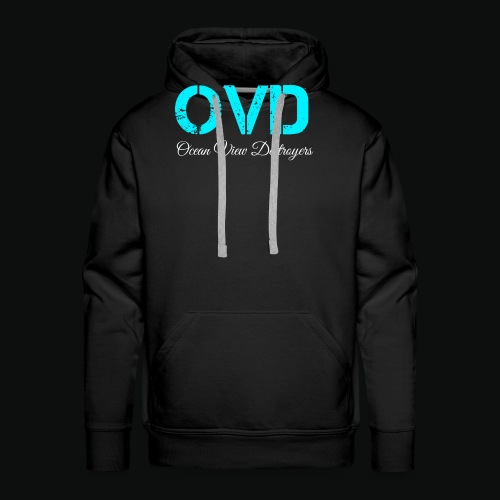 ovd blue text - Men's Premium Hoodie
