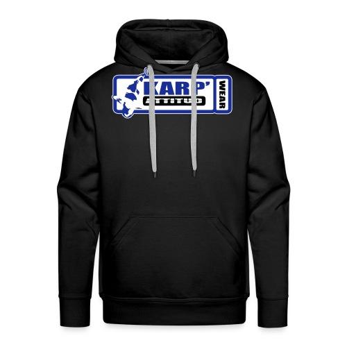 logo cadre pour sweat noir 2 - Sweat-shirt à capuche Premium pour hommes