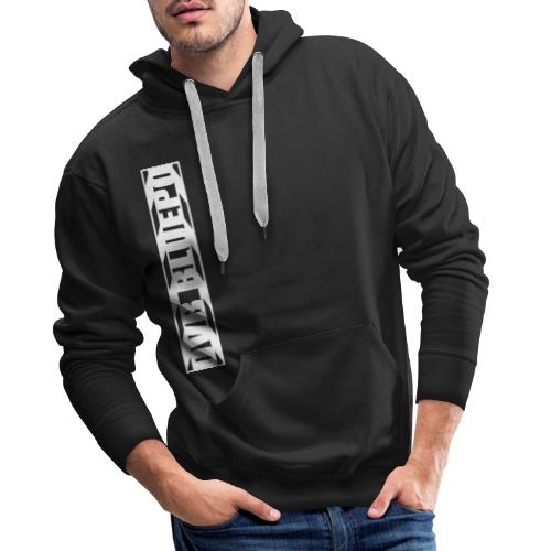 dvb bluepo side clapper white on black - Mannen Premium hoodie