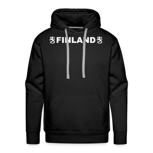 finland leijonat musta2 - Miesten premium-huppari