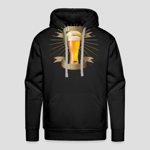 Beer is my religion - Sweat-shirt à capuche Premium pour hommes