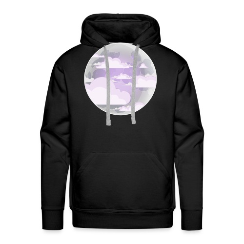 clouds - moon - Men's Premium Hoodie