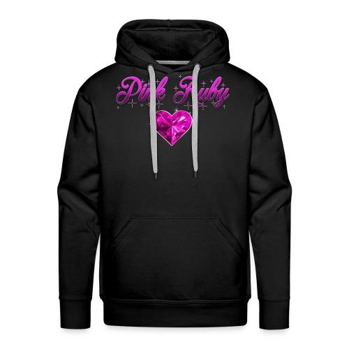 Pink Ruby heart - Premiumluvtröja herr