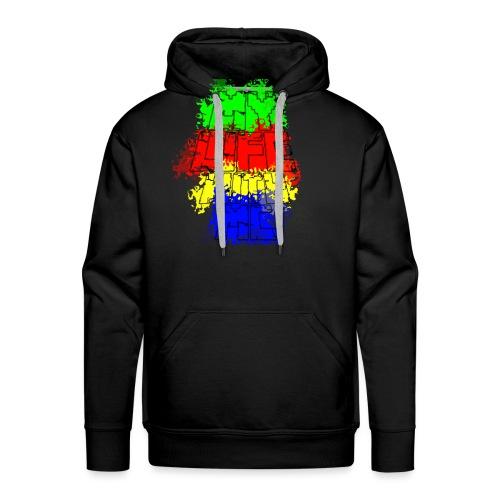 Den Officielle My Life With Minecraft Logo - Herre Premium hættetrøje