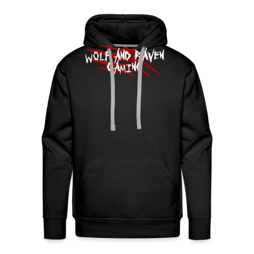 Wolf and Raven Scratches - Men's Premium Hoodie
