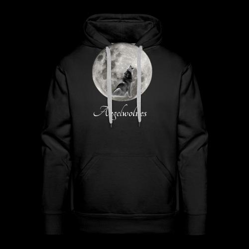 Heulender Wolf vor Mond Angelwolves - Männer Premium Hoodie
