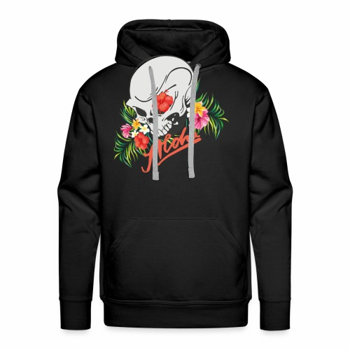 Hawaiian Skull Aloha Surfer Design - Männer Premium Hoodie
