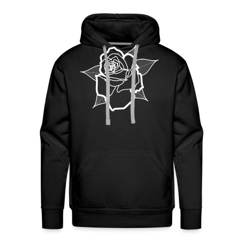 Big White Rose - Sweat-shirt à capuche Premium pour hommes