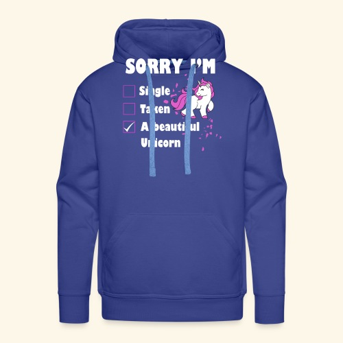 lustiges Beziehung Einhorn T-Shirt - Männer Premium Hoodie