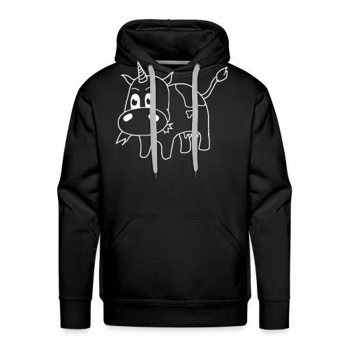 logo lijn wit - Mannen Premium hoodie