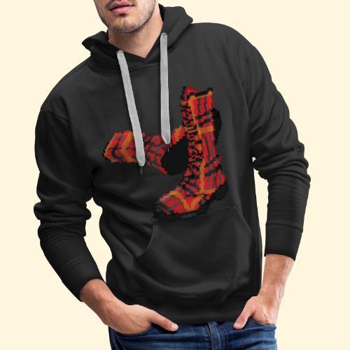 Rock and Shoes - Rock'n'll Shoes - Sweat-shirt à capuche Premium pour hommes