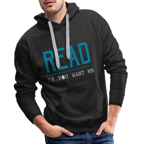 0047 reading | Desire | Eroticism | Book | bookworm - Men's Premium Hoodie