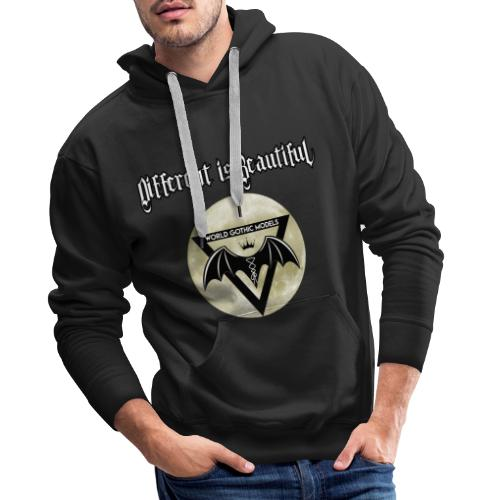 Different is Beautiful with Moon WGM Logo - Men's Premium Hoodie