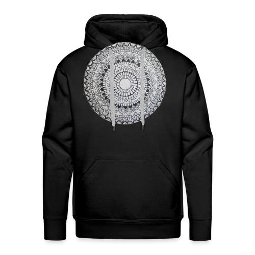 Mandala Black and White - Männer Premium Hoodie