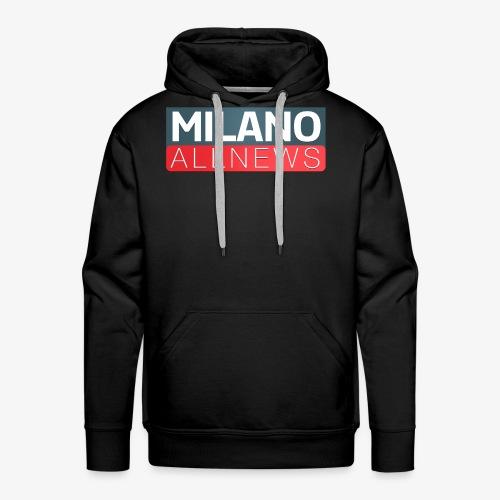 Milano AllNews Logo - Felpa con cappuccio premium da uomo