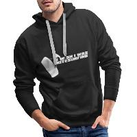 I Wish I Was Kitesurfing - White - Men's Premium Hoodie - black
