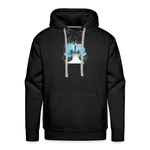 Boxing Panda - Felpa con cappuccio premium da uomo