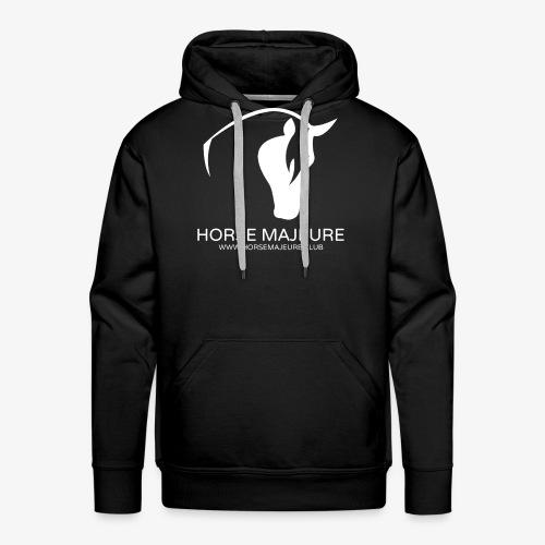 Horse Majeure Logo / Valkoinen - Miesten premium-huppari