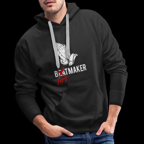 HitMaker Blanc - Sweat-shirt à capuche Premium pour hommes