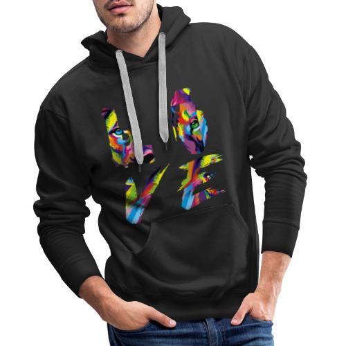 LOVE LION RICHE - Sweat-shirt à capuche Premium pour hommes