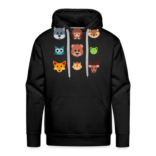 Les animaux de la forêt - Sweat-shirt à capuche Premium pour hommes