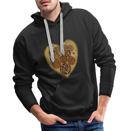 chocoholic | chocolate t-shirt - Men's Premium Hoodie