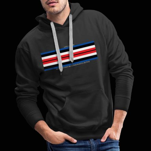 Live and Die ORIGINAL DRK - Sweat-shirt à capuche Premium pour hommes