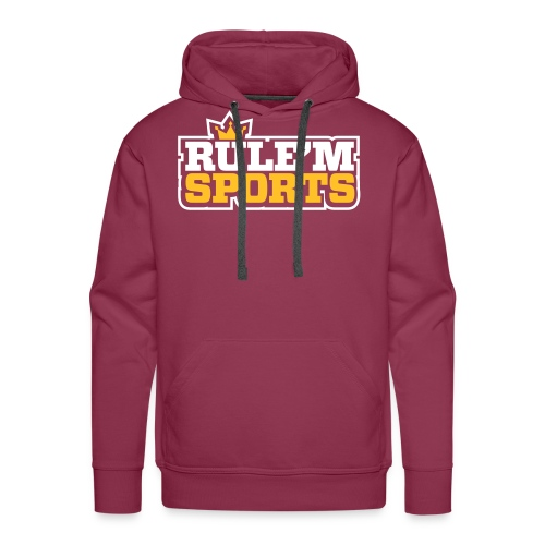 rulem sports vector white outline - Men's Premium Hoodie