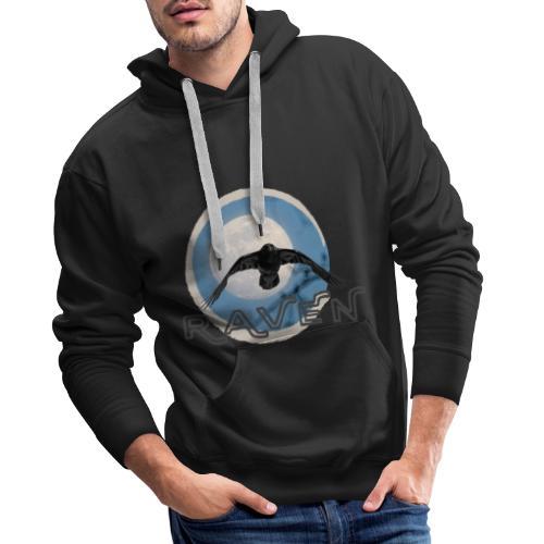 Australian Raven Full Moon - Men's Premium Hoodie