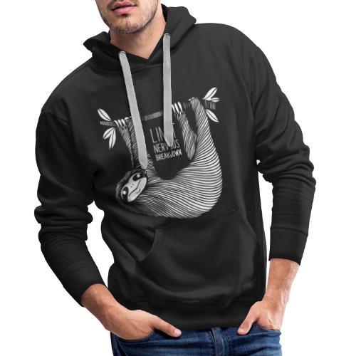 Le paresseux, animal, limit nervous breakdown - Sweat-shirt à capuche Premium pour hommes