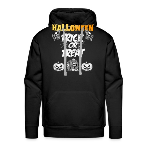 Halloween Night Trick Or Treat Skeletons Pumpkins - Men's Premium Hoodie
