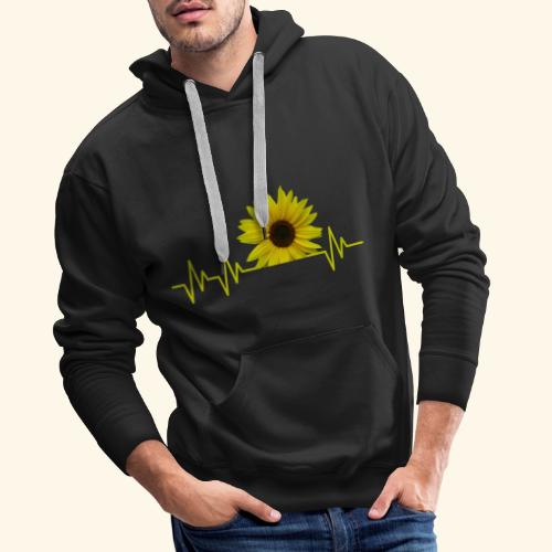 sunflowerbeat - zauberhafte Sonnenblume - Männer Premium Hoodie