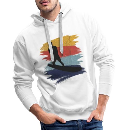 Wellenreiten Retro-Stil, Vintage - Männer Premium Hoodie
