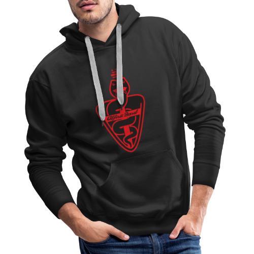 Alfisti Basel Logo Rot - Männer Premium Hoodie