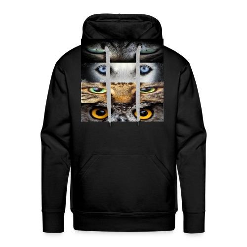 eyes cats - Sweat-shirt à capuche Premium pour hommes