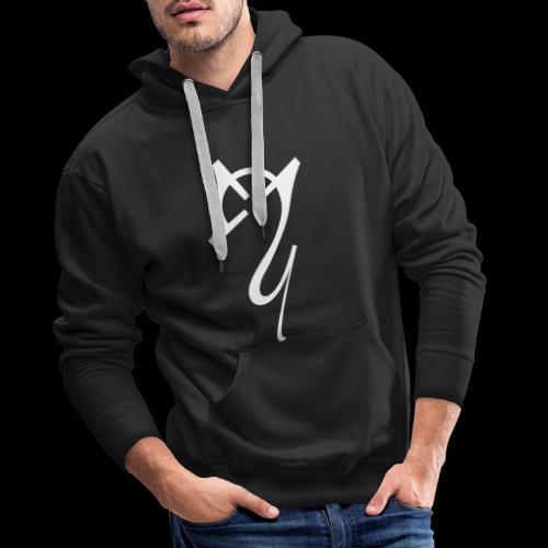 Overscoped logo White - Men's Premium Hoodie