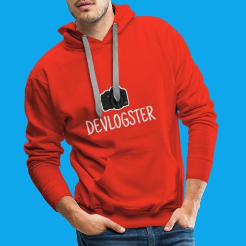 DeVlogster + camera logo - Mannen Premium hoodie