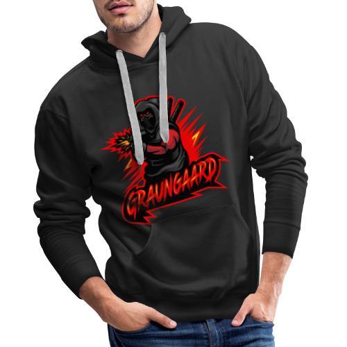 Graungaard startdart logo - Herre Premium hættetrøje